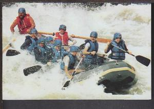 White Water Rafting Postcard BIN