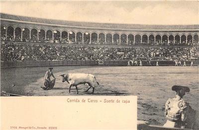 Corrida de Toros - Suerte de capa Bullfighters Spain 1904 Vintage Postcard