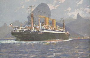 Ocean Liner SIERRA , LLOYD NORTE ALEMAN (De Bremen) , 1910-30s V-2