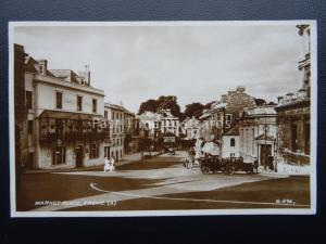 Somerset FROME Market Place THE GEORGE HOTEL c1934 RP Postcard by Valentine G896