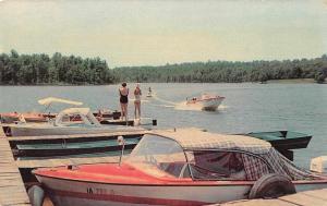 Hardy Arkansas Cherokee Village Lake Sequoyah Water Skiing Postcard JD228007