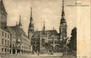 CPA AK Aachen- Rathaus m. Verwaltungsgebaude GERMANY (942243)