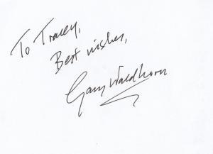 Gary Waldhorn Vicar Of Dibley Hand Signed Card