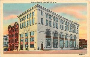 Rochester New York~Big, Glassy Arch Windows At Times Square~1910 Postcard