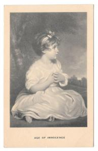Age Of Innocence Joshua Reynolds Vintage Art Postcard