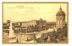 Friedrichsplatz mit Wasserturm Und Kunsthalle, Mannheim (Baden-Württemberg),...