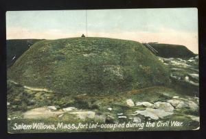 Salem Willows, Massachusetts/MA/Mass Postcard, Fort Lee, Civil War
