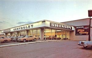 Westville NJ Swenson Chevrolet Dealership postcard.