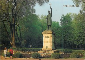 Postcard Republica Moldova Chisinau Monumentul lui Stefan cel Mare si Sfant