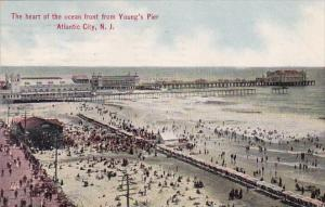 New Jersey Atlantic City The Heart Of The Ocean Front From Young's Pier 1911