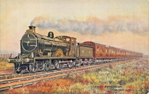NORTH BRITISH RAILWAY~LOTHIAN EXPRESS~TUCK SCOTCH RAILROAD TRAINS POSTCARD