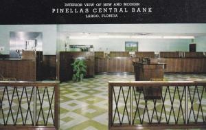 LARGO , Florida , 50-60s ; Pinellas Central Bank , Interior