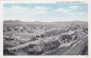 Railroad Avenue & train Station , LORDSBURG , New Mexico , 1910s #2