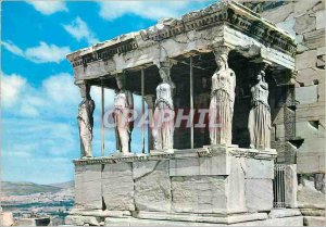 Postcard Modern Athens Portico of the Caryatids