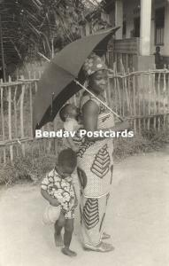 suriname, Native Woman with Children in Typical Dress, Costumes (1973) RP