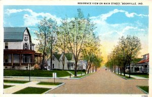 Boonville, Indiana - The houses on Main Street - in 1959