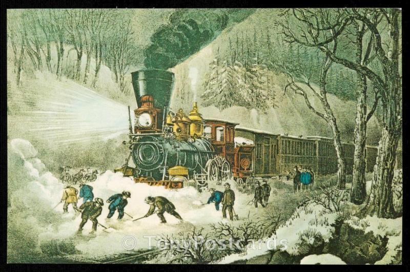 SNOW BOUND by Currier & Ives