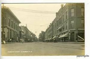 Claremnt NH Street View Dodge's RPPC Postcard