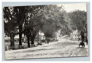Vintage 1900's Photo Postcard Main Street Peterborough New Hampshire