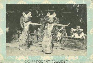 BALI , Indonesia, 1900-10s ; Temple Dancing Girls