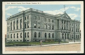 Trenton NJ Mercer County Court House Vintage Curteich 1941 Linen Postcard 4-bar