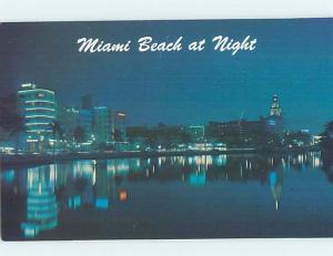 Unused Pre-1980 HOTELS AT NIGHT AT LAKE PANCOAST Miami Beach Florida FL F8893