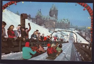 P1361 vintage RPPC the toboggan slide on dufferin terrace quebec canada