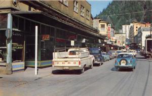 Juneau Alaska~Franklin Street~George's Gift Shop~Gastineau Hotel~Ford Truck~'70s