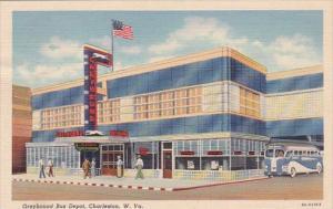 Greyhound Bus Depot Charteston West Virginia 1940