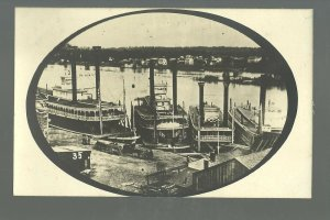 MINNESOTA Minneapolis 1859 STEAMBOATS Mississippi River BROMLEY #35 1911