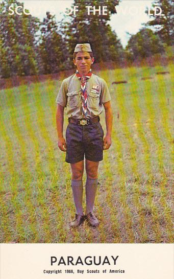 Paraguay Boy Scout Jubilee 1968 Boy Scout Uniform / HipPostcard