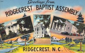 Ridgecrest North Carolina Baptist Assembly Multiview Antique Postcard K103910