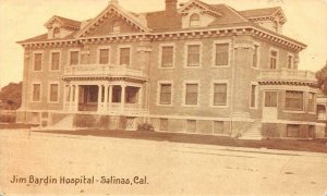 SALINAS, CA California   JIM BARDIN HOSPITAL Monterey County   c1910's Postcard