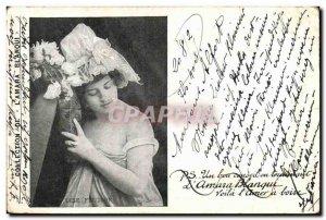 Old Postcard Fantaisie Lise Fleuron