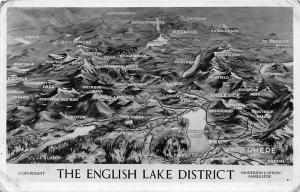 The English Lake District, Windermere Aerial View Map Landkarte Greetings