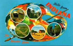 Indiana Greetings From The Hoosier State With Multi View
