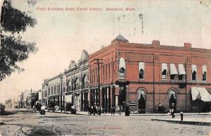 Brainerd Minnesota First National Bank Front Street Vintage Postcard JD933401