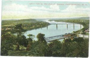 D/B View from Ft. Boreman Parkersburg West Virginia WV 1907
