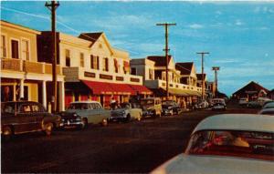 Watch Hill Rhode Island~Main Street~Storefronts~Classic 50s Cars~Postcard