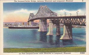 Jacques Cartier Bridge Between Montreal And Longueuil Canada