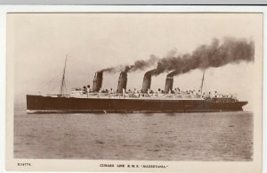 Shipping; Cunard Line Mauretania S14774 RP PPC By Kingsway, Unused, c 1910's