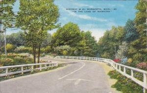 Michigan Marquette Highway M 41 1953
