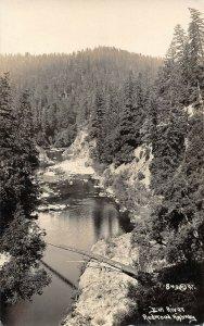 LP73 Redwood Highway Eel River    California Postcard RPPC