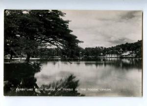 191961 CEYLON KANDY lake Temple Tooth Vintage photo postcard