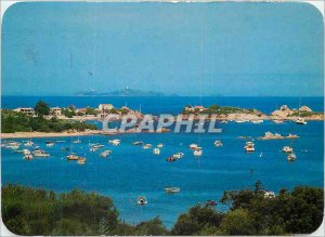 Modern Postcard Panorama Isolella Corsica Pointe Sette Nave and Rocky Cape Sa...