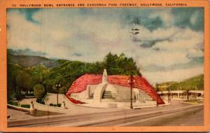 California Hollywood Hollywood Bowl Entrance and Cahuenga Pass Freeway 1944