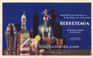 Advertising Postcard - Old Vintage Antique  Berreteaga The Best Drink in Mexico