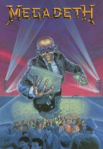 Megadeth Rare Heavy Metal 1990 Postcard