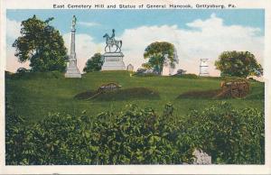 East Cemetery Hill - Statue of Gen Hancock - Gettysburg PA, Pennsylvania - WB