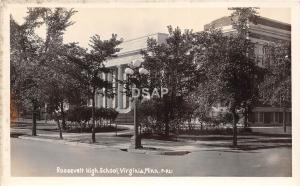 C18/ Virginia Minnesota Mn Real Photo RPPC Postcard 1935 Roosevelt High School